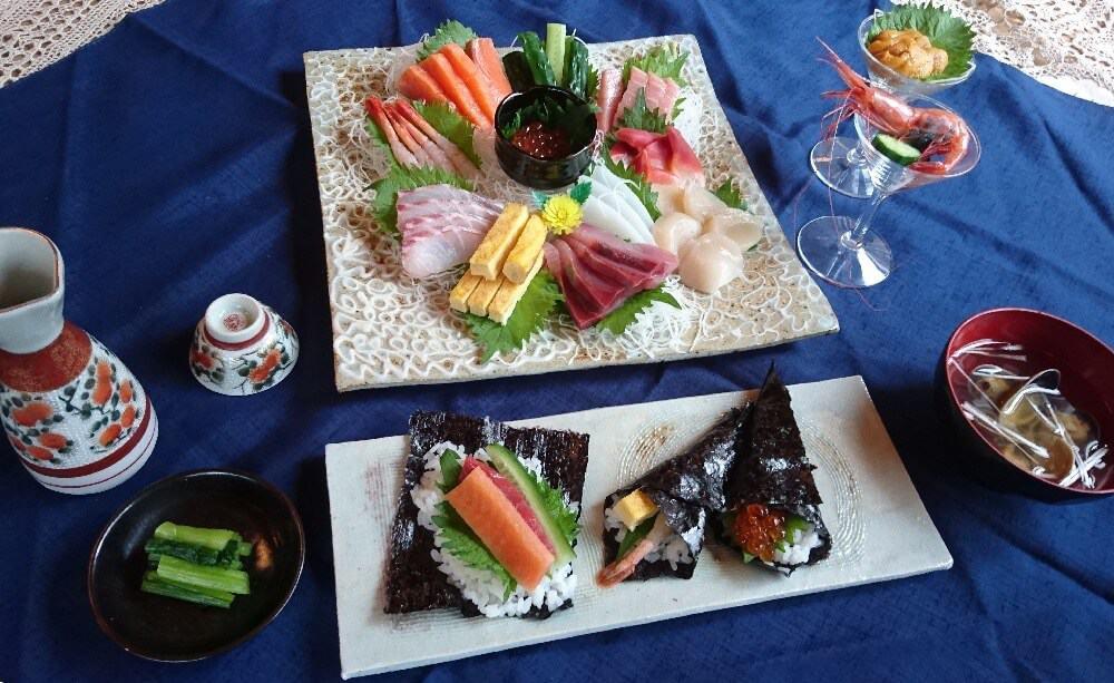 hand rolled sushi soratobu usagi