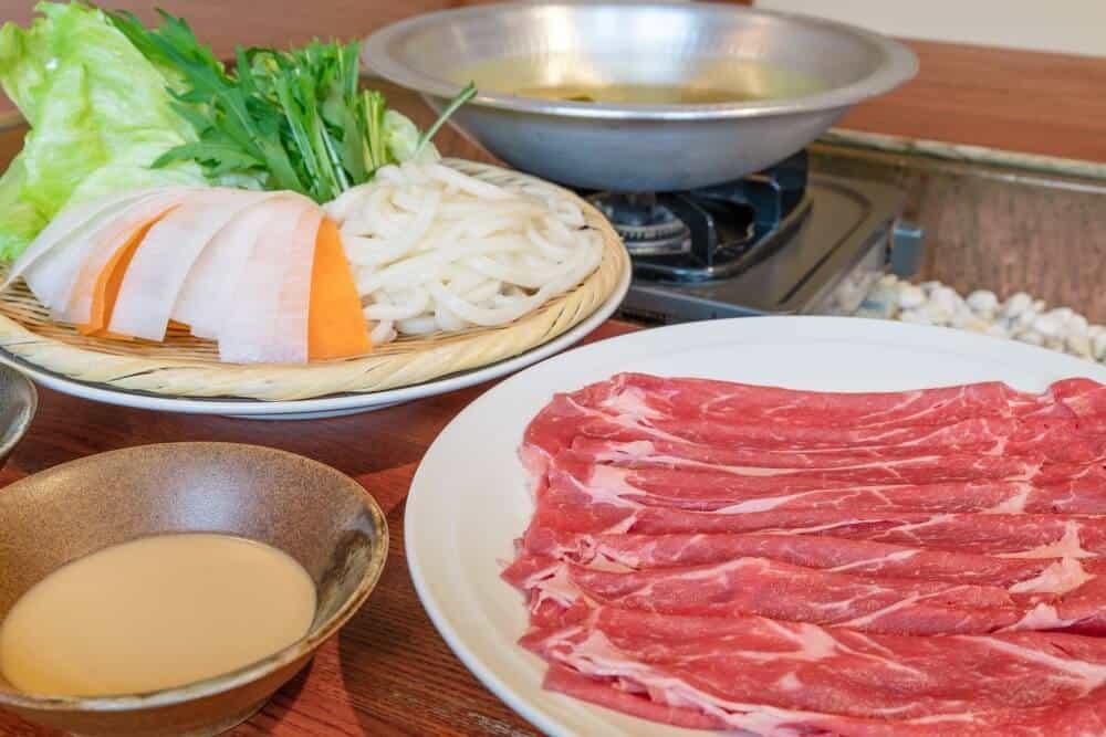 shabu shabu course plates