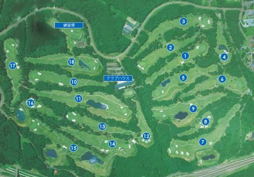 Myoko Kogen Golf Course layout