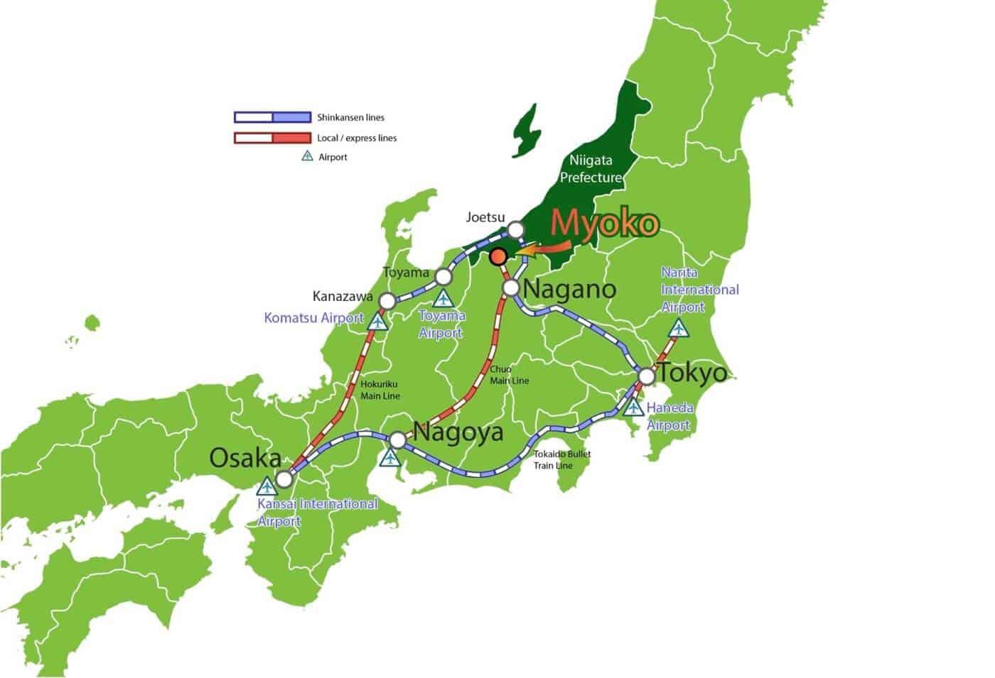 Access to Myoko City